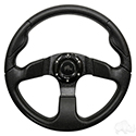 "Steering Wheel, Formula GT Black Grip/Black Spokes 13"" Diameter"