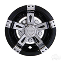 "Wheel Cover, 10"" Vegas Chrome/Black"